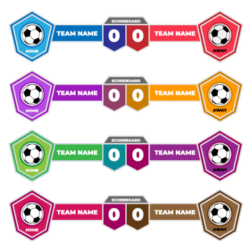 Scoreboard Elements Design For Football And Soccer Scoreboard Football Png And Vector With Transparent Background For Free Download Football Logo Design Scoreboard Soccer Banner