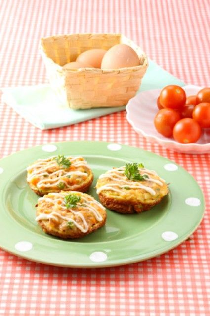 Egg Pancake Tuna Mayo On Top Resep Bayam Keju