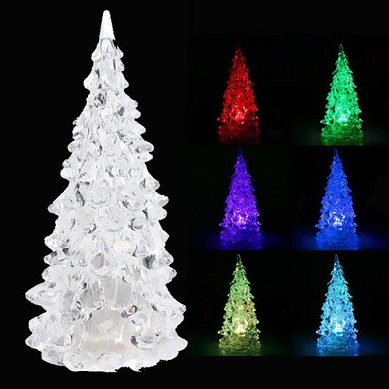 Color Changing Led Icy Crystal Christmas Tree Light Battery Operated Led Tree Light I Christmas Tree Night Light Miniature Christmas Trees Led Christmas Tree