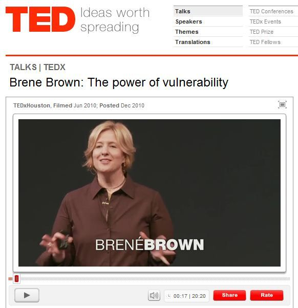 ted talk brene brown the power of vulnerability