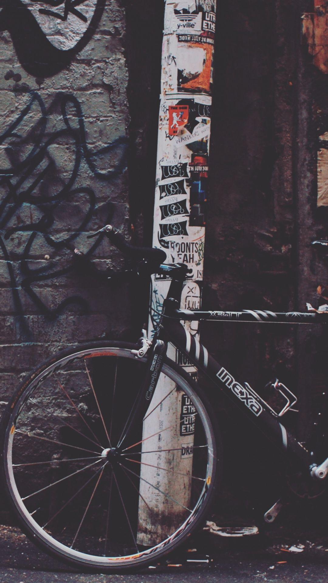 Wallpapers Street Art Mountain Bike Bicycle Frame Graffiti Tree