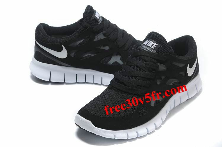Cheap Nike Free Run 2 Women's Running Shoes Black/White