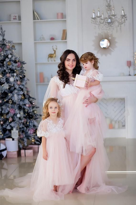 a868aae69e243 Light pink mother daughter matching dress, Mommy and me outfits, Mother  daughter dress, Photo shoot