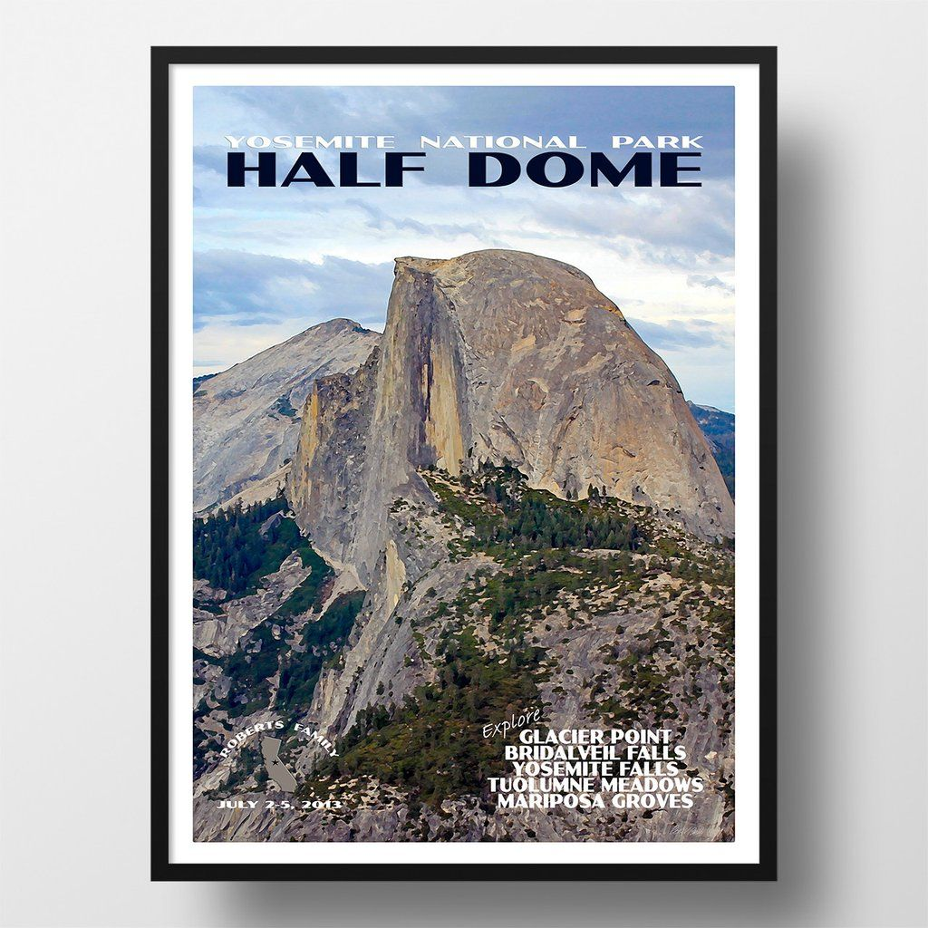 Half Dome Yosemite National Park Poster
