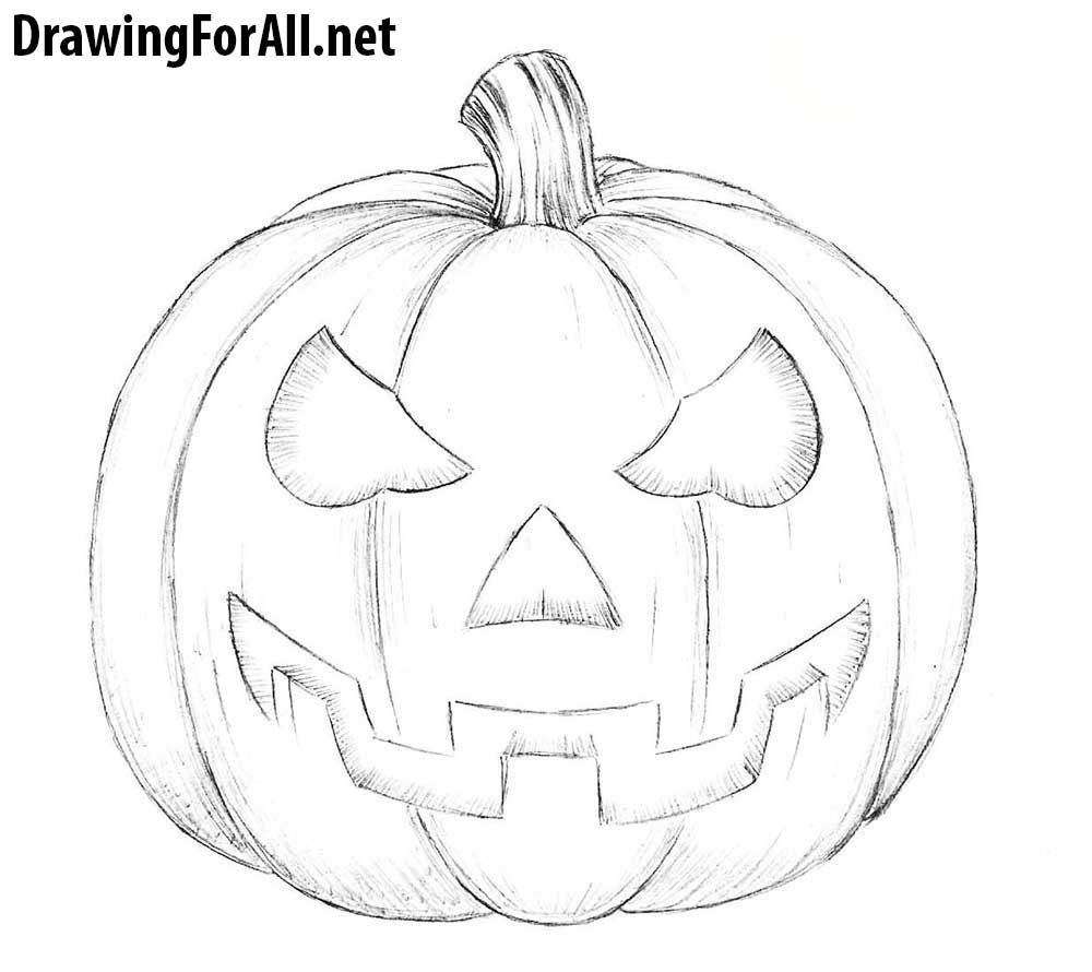 Easy Halloween Drawings Ideas Halloween Drawings Easy Halloween Drawings Pumpkin Drawing