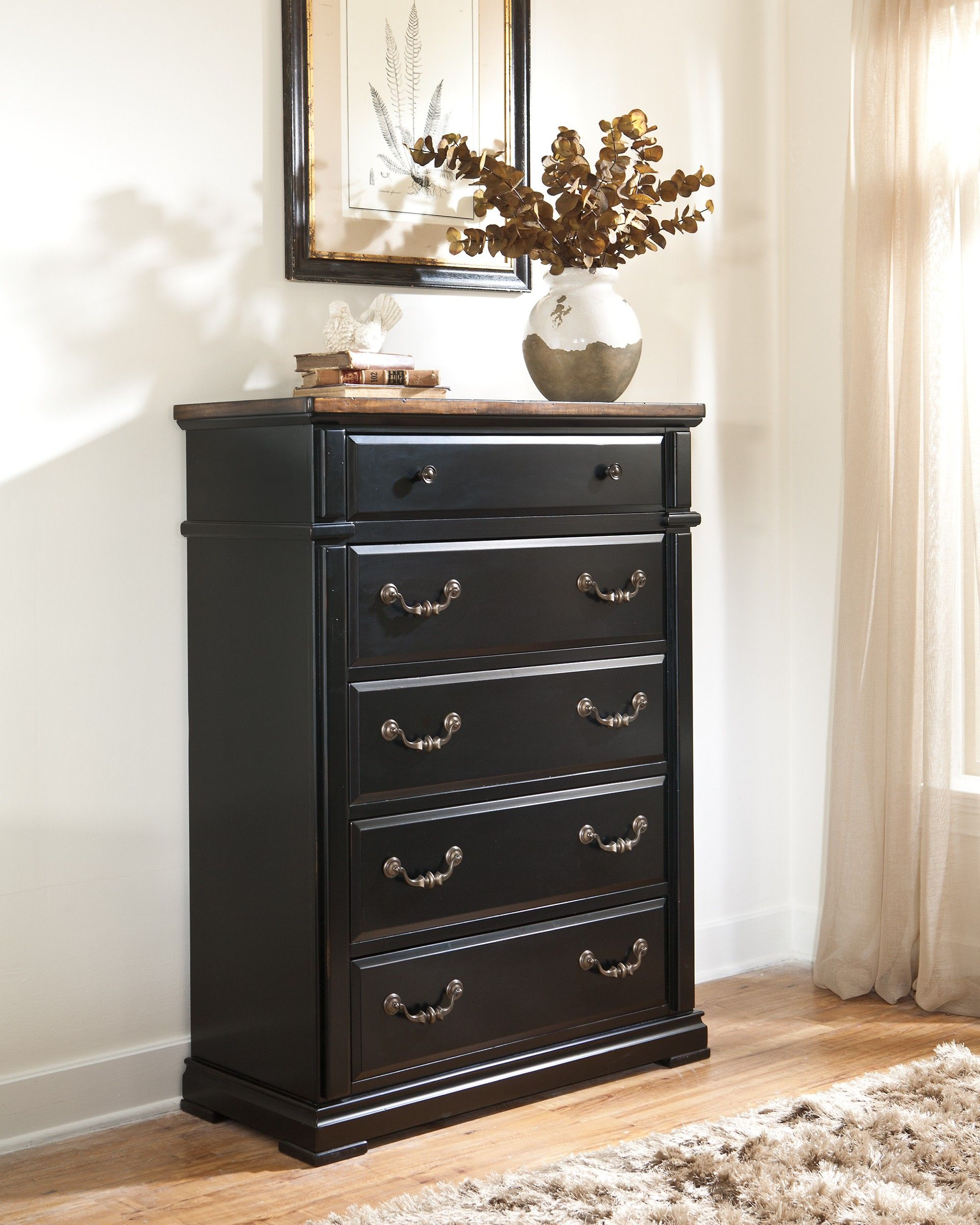 Ashley Breen B631 46 Signature Design Five Drawer Chest Chest Of Drawers Signature Design Dresser As Nightstand