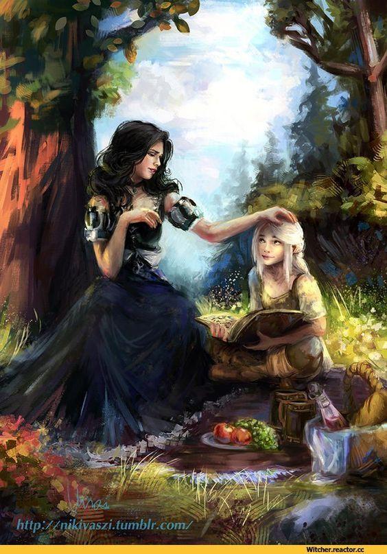 Ciri and yennefer the witcher 3 wild hunt gwent card - Ciri gwent card witcher 3 ...