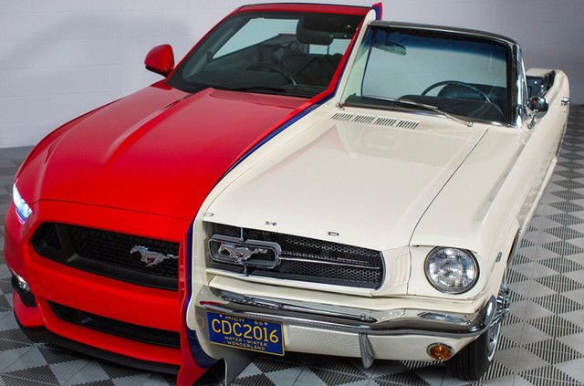 Ford Combines Two Mustangs to Showcase Innovation | Digital Trends