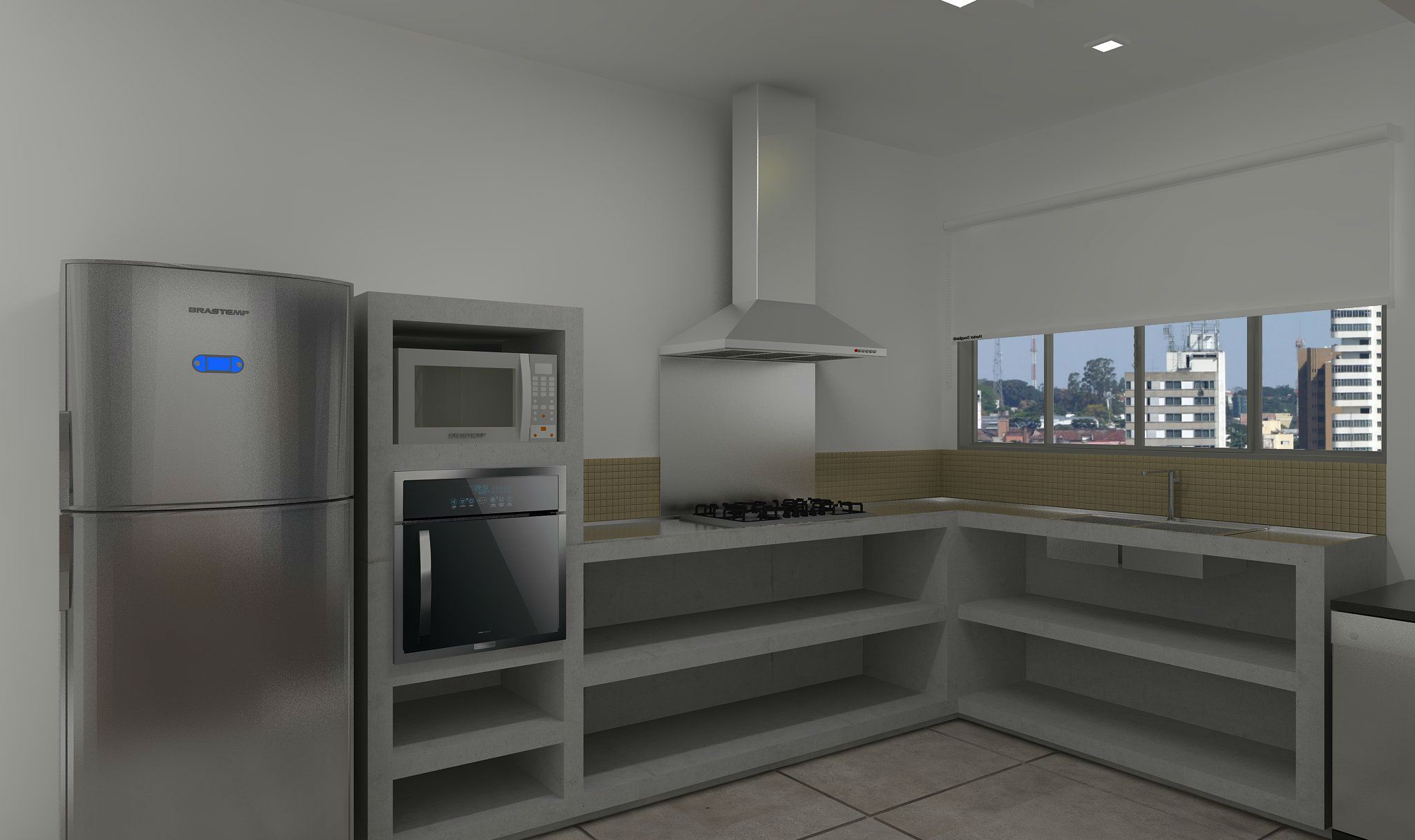 Cozinha bancada cimento queimado para mais informa es - Bancadas de cocina ...