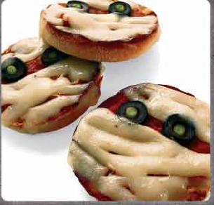 pizza momias halloween
