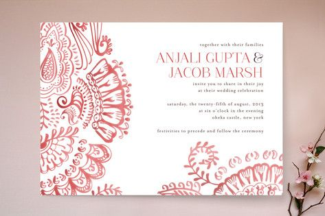 Mehndi Party Invites : Modern mehndi wedding invitations stationary pinterest