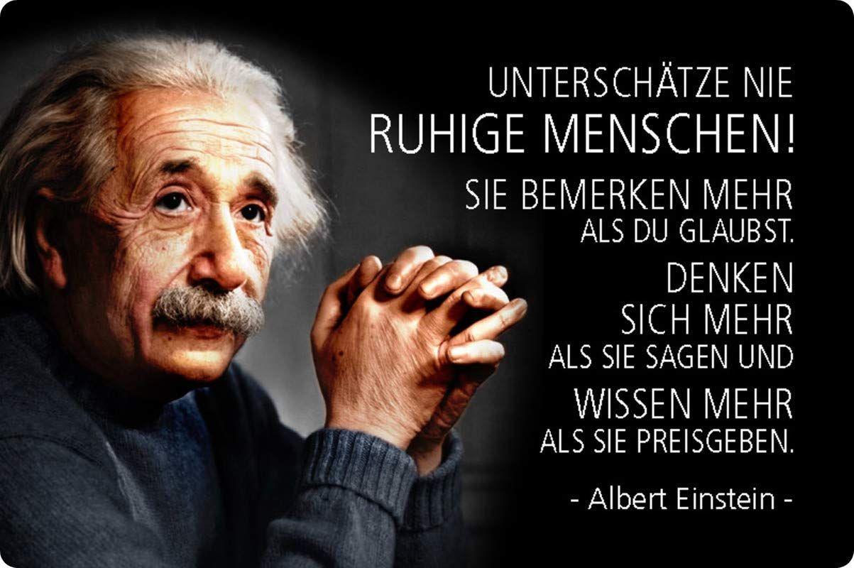 Blechschild 20x30cm Gewolbt Unterschatze Nie Ruhige Menschen Zitat Einstein Deko Geschenk Schild Amazon De Spruche Lebensweisheiten Spruche Weisheiten Spruche