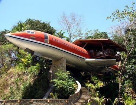 Ejemplo  Casa jardin concepto Avion