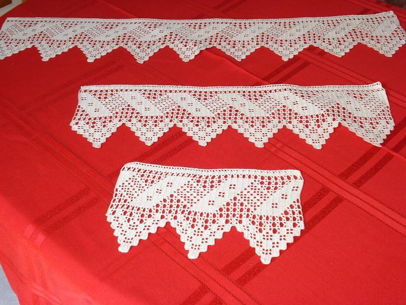 Puntillas para juego de toallas n 12 croche hoslek bede - Puntillas para cortinas ...