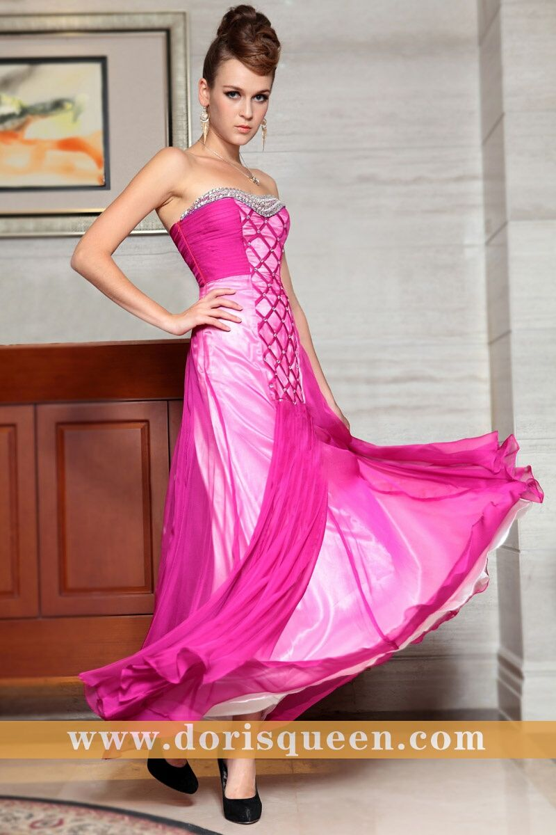 new fashion red sweetheart strapless long prom dresses evening