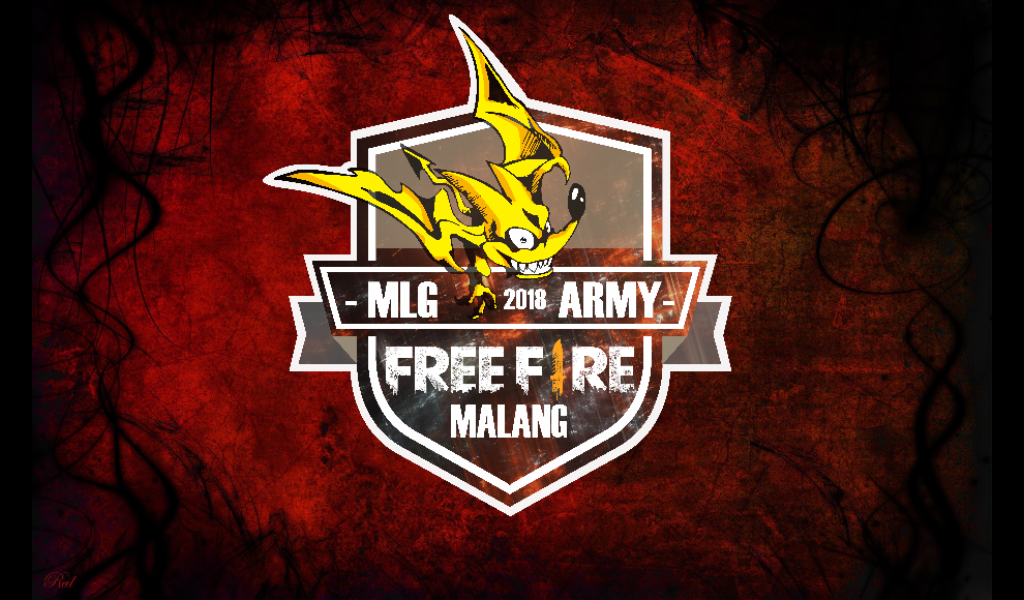 Wallpaper Logo free fire Malang Army army squad guild