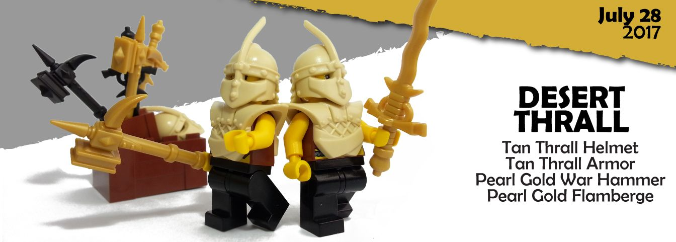 Tan Color Minifigure with Armor and Weapon Accessory Custom Desert Soldier
