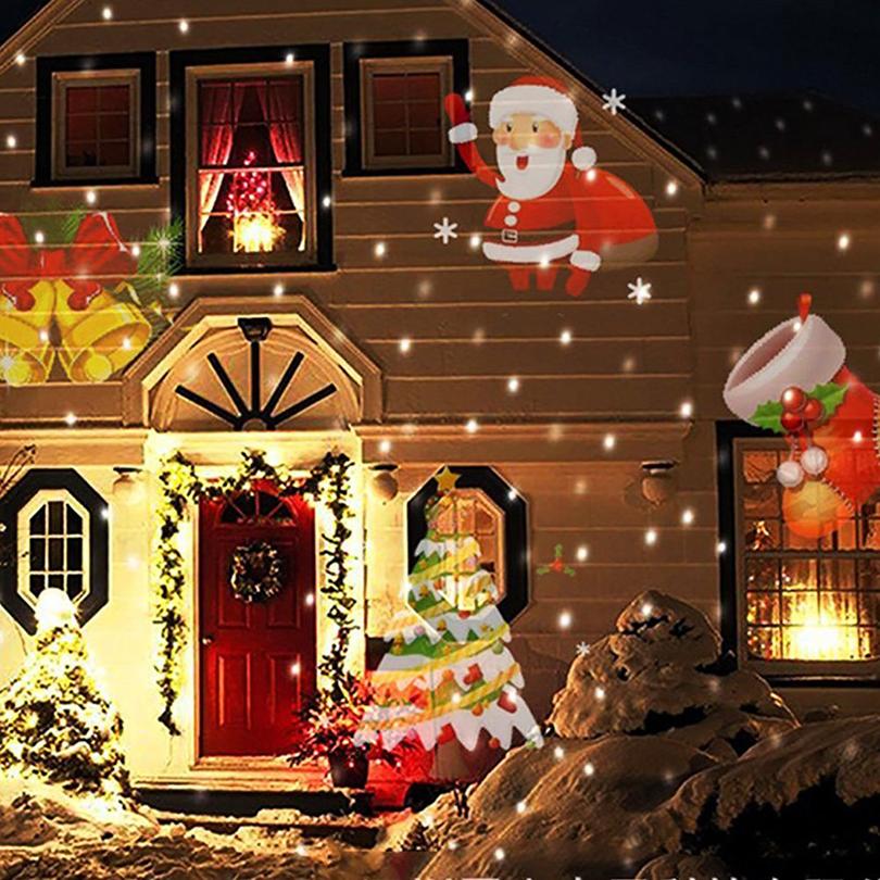 Christmas Halloween Home Decoration Projector Lights 12