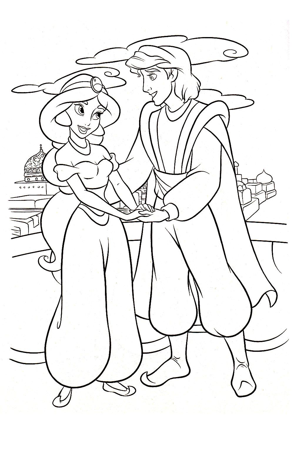 Disney Jasmine Colouring Pages (page 3) - Coloring Home | 1600x1000