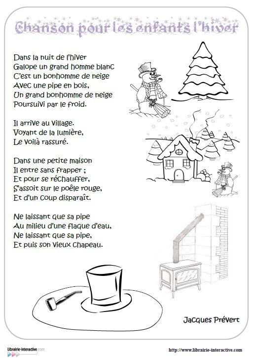 Prevert Chanson Pour Les Enfants L Hiver Chanson Pour Anniversaire Chanson Comptine Hiver