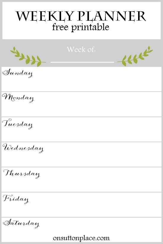 weekly planner free printable weekly planner pinterest weekly