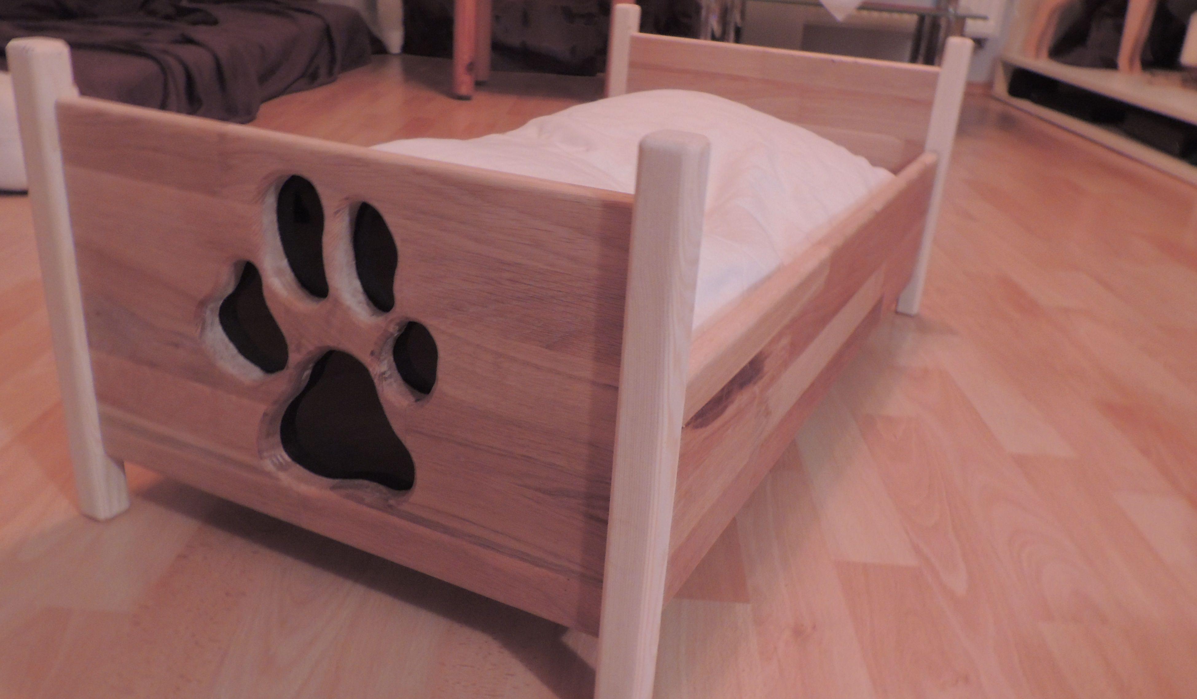 hundebett aus eiche bauanleitung zum selber bauen hund. Black Bedroom Furniture Sets. Home Design Ideas