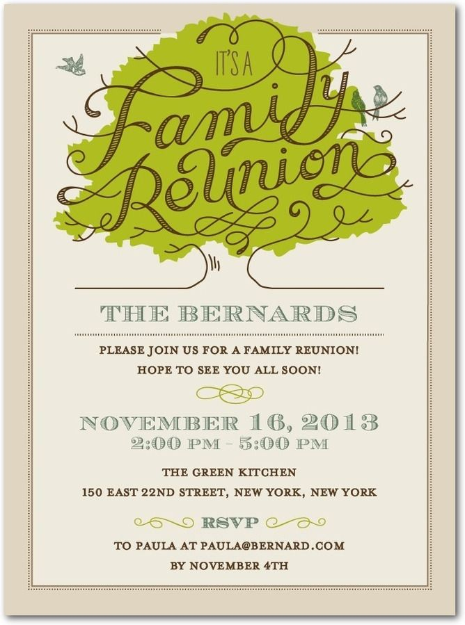 Radiant Roots - Party Invitations in Khaki | East Six | Family Roots ...