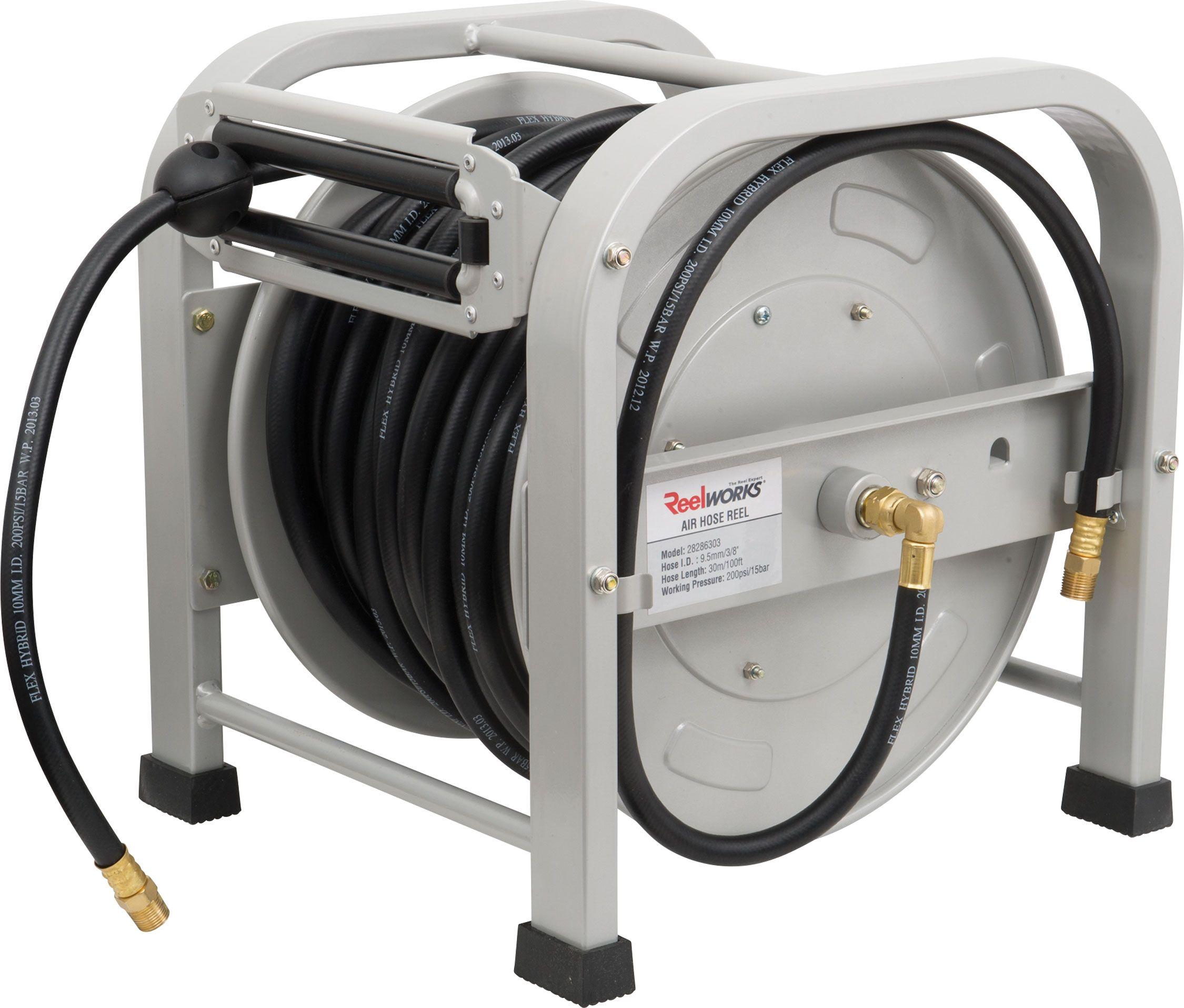 retractable air hose reel princess auto - Retractable Hose Reel