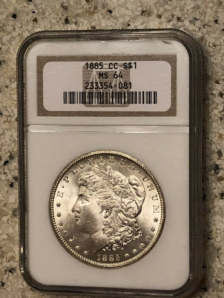 1885 CC Morgan Silver Dollar United States Coin NGC Graded MS 64