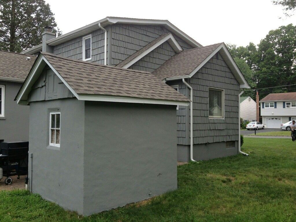 Exterior Painting With Superpaint By Sherwin Williams Color 39 Attitude Gray Sw7060 39 Super