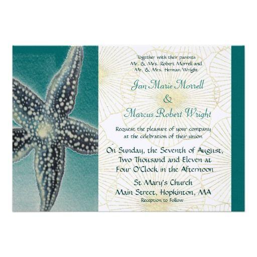 Starfish and Shells Wedding Invitation