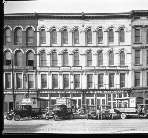 Fleet Of United Furniture Co Trucks Louisville Kentucky 1928