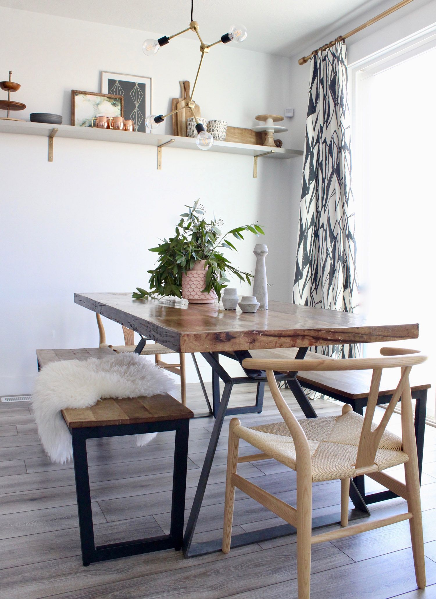 dining table with different chairs paint base gold west elm eclectic boho modern glam in on boho chic dining room kitchen dining tables id=31875