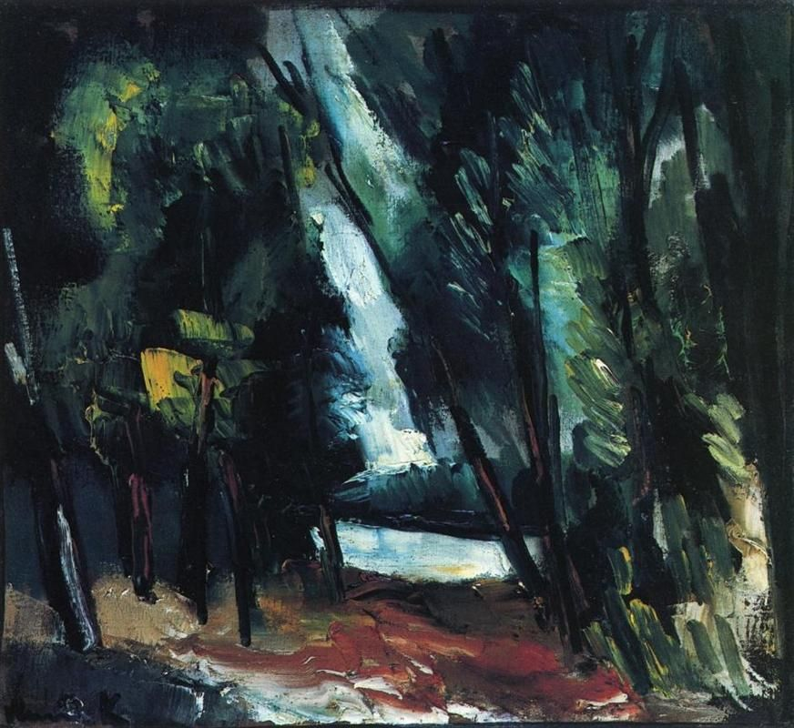 maurice de vlaminck the clearing at valmondois 1912 painting fauvism art