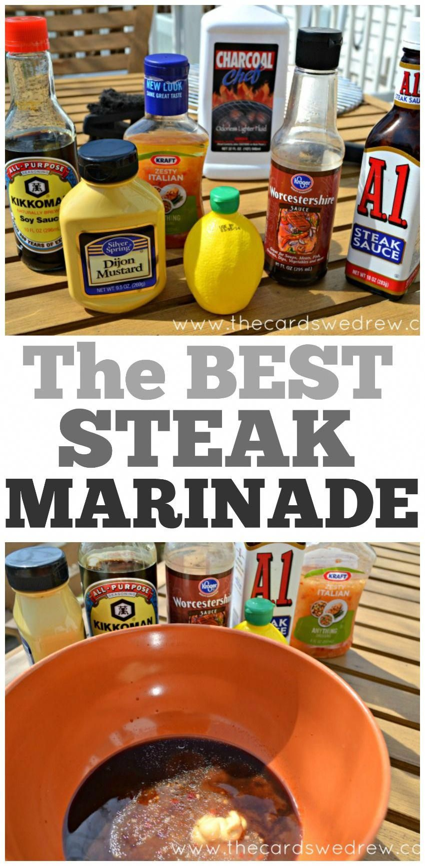 The BEST Steak Marinade You'll Ever Try... #grilledsteakmarinades