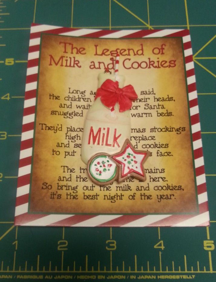 The Legend Of Milk And Cookies Ornament Card Has The Legend Cute Ornament Milk Coo Christmas Crafts For Gifts Ornament Card Christmas Traditions Family