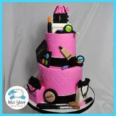 Mac Makeup Shopping Sweet 16 Cake Sweet 16 Cakes Sweet 16 Birthday Cake Spa Cake
