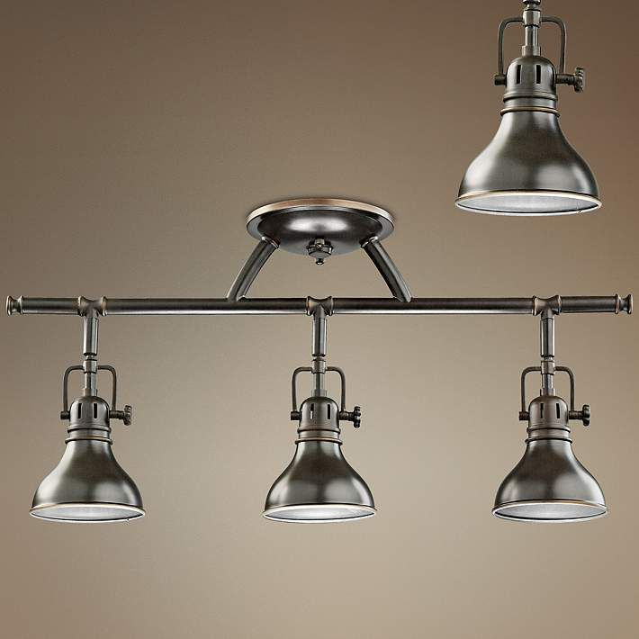 Kichler olde bronze halogen swivel ceiling fixture style 32076 ceilings industrial and lights