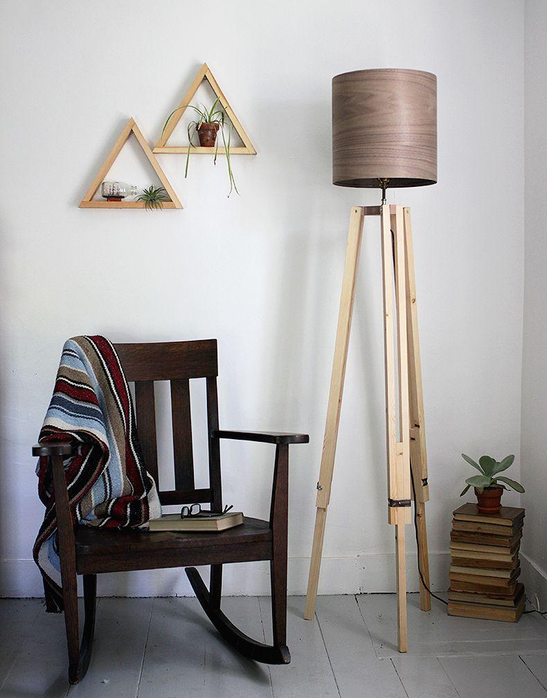 diy tripod floor lamp diy 2. Black Bedroom Furniture Sets. Home Design Ideas