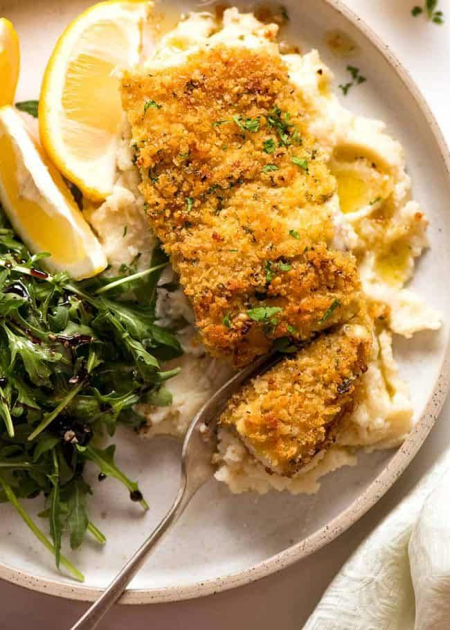 Emergency EASY Fish recipe - Parmesan Crumbed Fish!