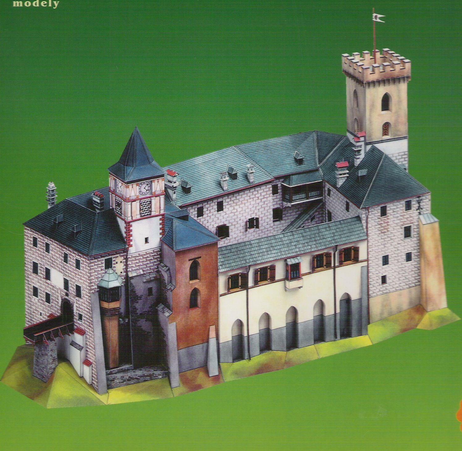Pin Von Roderik Salko Auf Burgen Und Schlosser Papiermodell Bastelbogen Burg