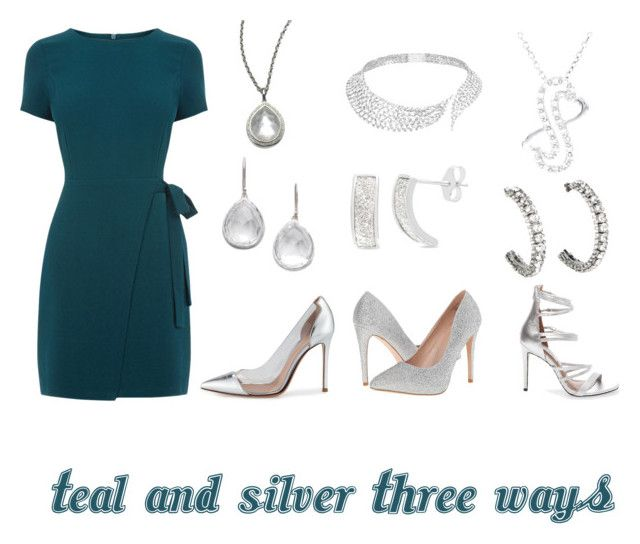 Teal and Silver by leverhartmartin1976 on Polyvore featuring polyvore fashion style Gianvito Rossi Lauren Lorraine Steve Madden Messika Ippolita H Star Belk Silverworks clothing