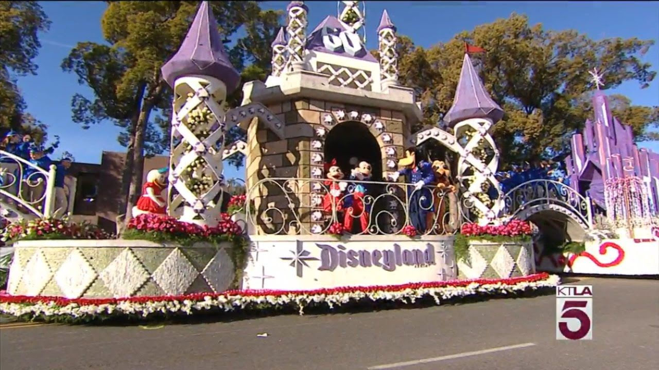 2016 rose parade disneyland 60th anniversary rose parade float