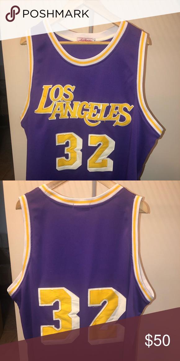 Los Angeles Lakers Magic Johnson Vintage Jersey In 2020 Vintage Jerseys Magic Johnson Los Angeles Lakers