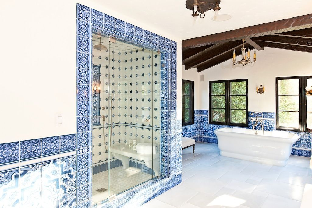 One of my favorite details of this colonial spanish style for Spanish colonial bathroom design
