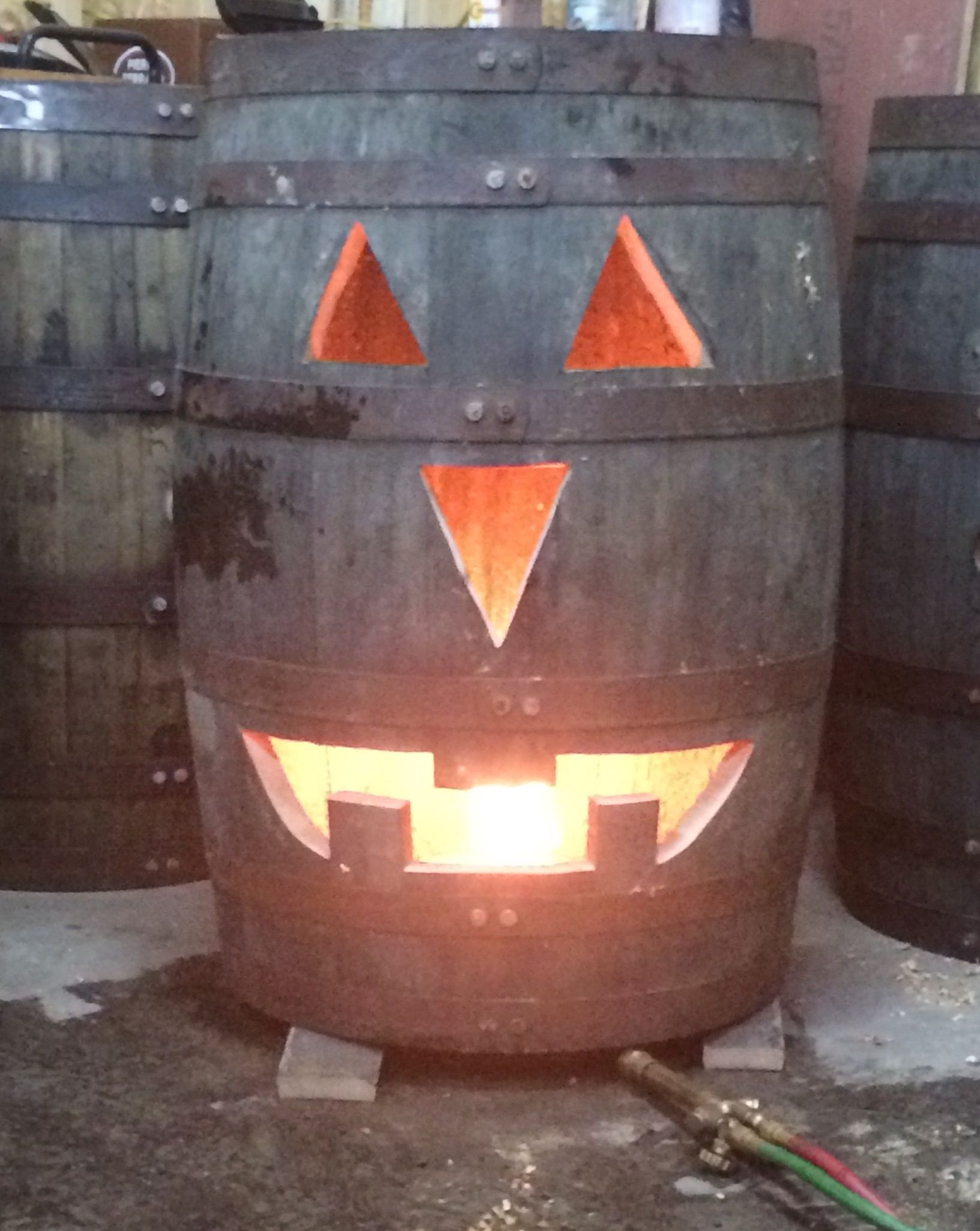 Awesome Halloween Decoration Jack O Lantern Made Out Of A