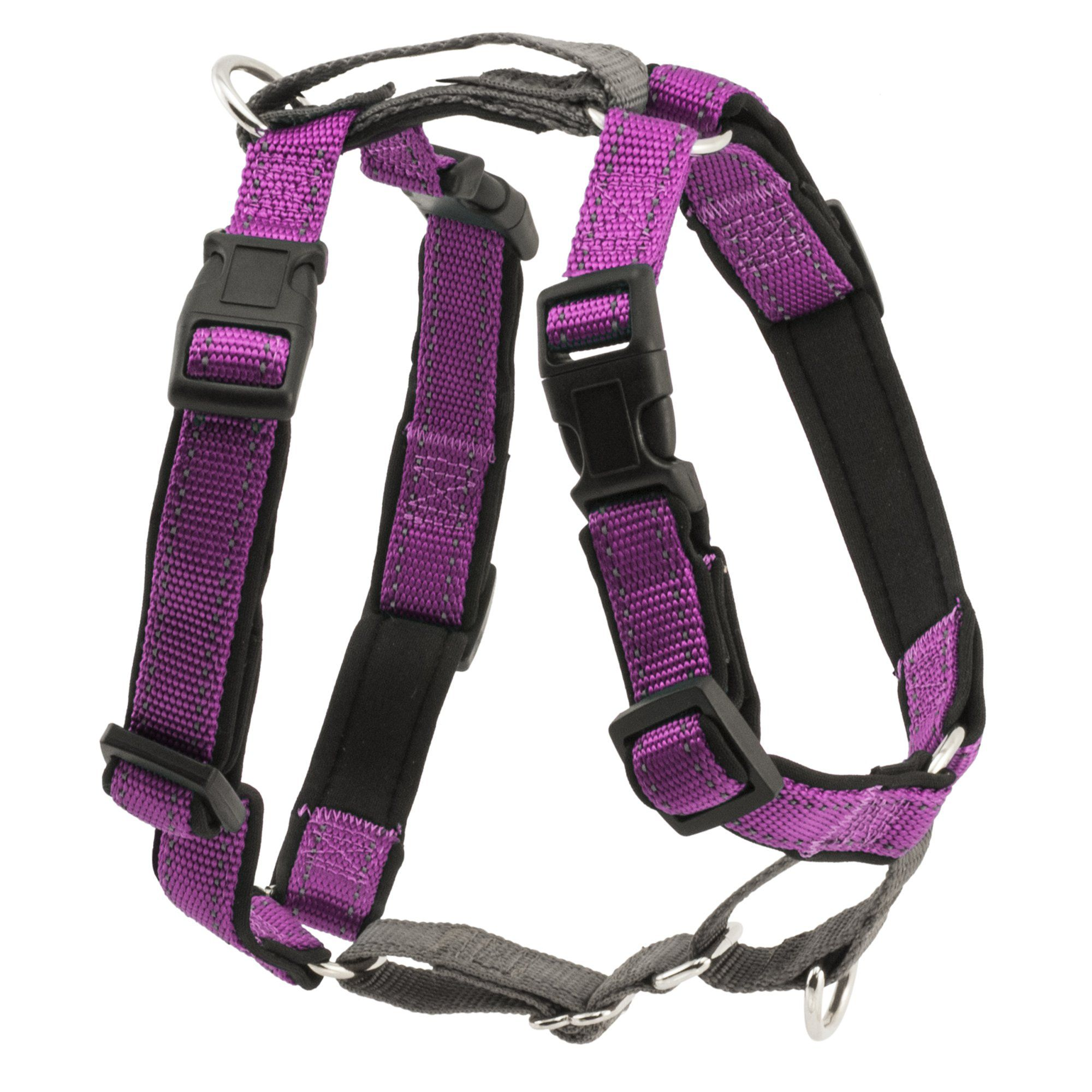 Petsafe 3 In 1 Harness Small Plum Red Grey Dog Harness Red Grey Dog Chews