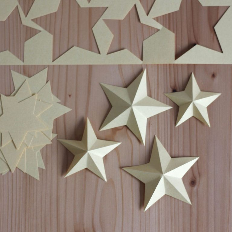 3D Sterne aus Papier [Plotterfreebie] #3dsterneauspapier