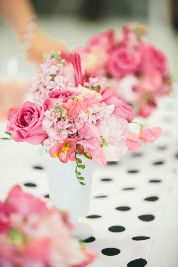 Floral Decor: PINK + POLKA DOT MOTHER'S DAY BRUNCH STYLED TABLE