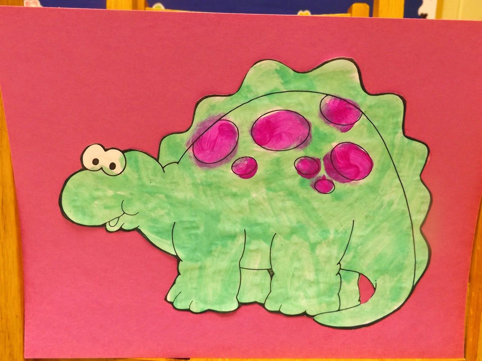 The Stuff We Do ~ A dinosaur coloring picture that was painted and ...